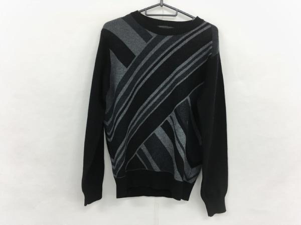 ディーゼルブラックゴールド 長袖セーター サイズXS メンズ 黒×グレー×ダークグレー