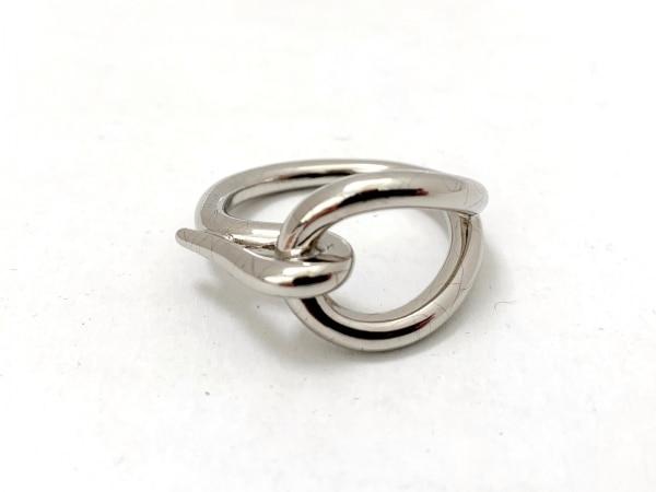 HERMES(エルメス) スカーフリング美品  ジャンボ 金属素材 シルバー