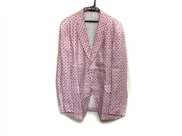 ETRO(エトロ) ジャケット サイズ48 M メンズ美品  ピンク×マルチ 花柄