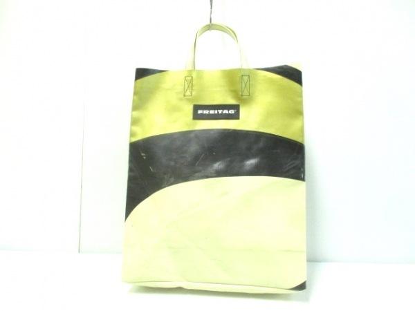 FREITAG(フライターグ) トートバッグ アイボリー×黒×ゴールド PVC(塩化ビニール)