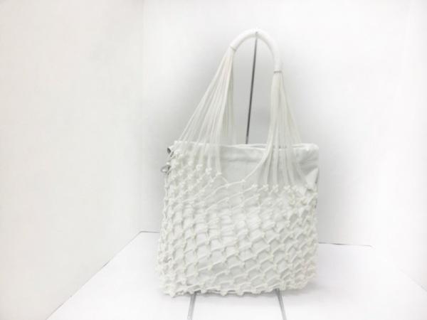 MARCO MASI(マルコマージ) ハンドバッグ美品  白 FOR UNITEDARROWS レザー×化学繊維