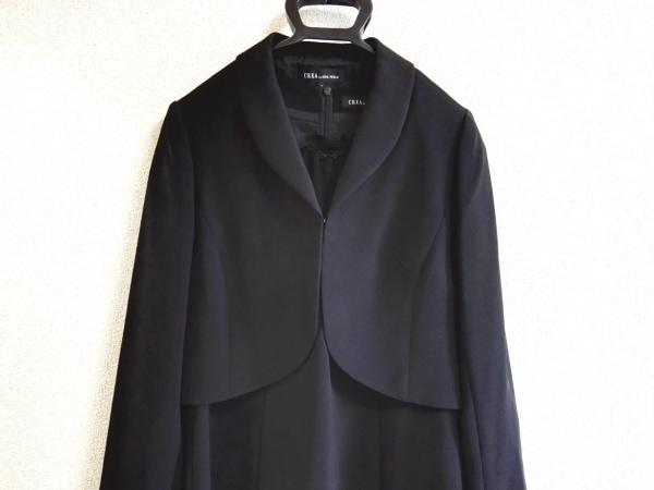 SOIR PERLE(ソワール ペルル) ワンピーススーツ サイズ9 M レディース 黒