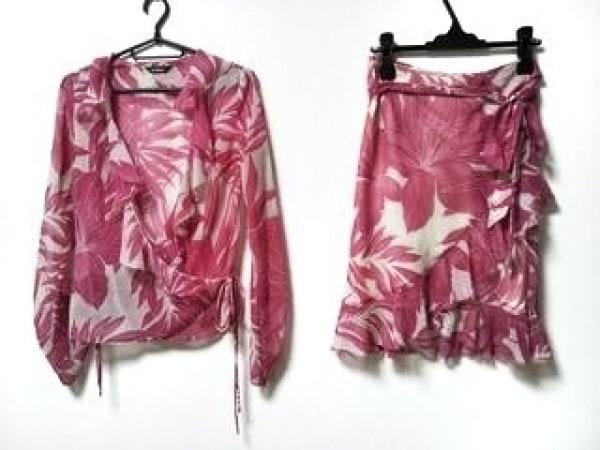 インタープラネット スカートセットアップ サイズ2 M レディース ピンク×アイボリー