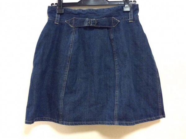 Bilitis(ビリティス) スカート サイズ38 M レディース新品同様  ネイビー デニム