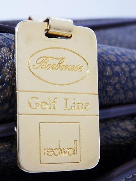 レッドウォールボルボネーゼ ハンドバッグ ダークブラウン×ブラウン Golf Line