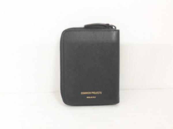 COMMON PROJECT(コモンプロジェクト) 2つ折り財布 黒 レザー