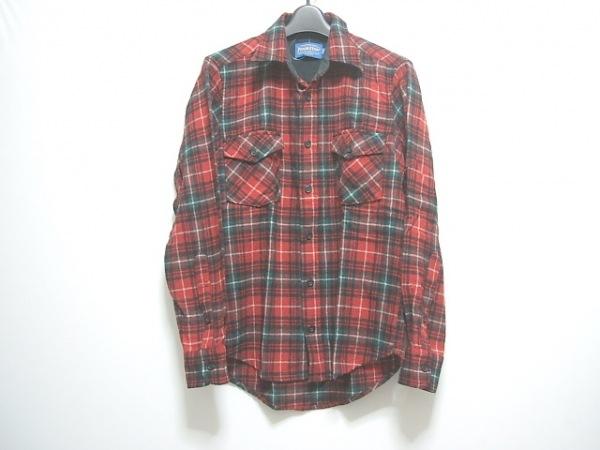 PENDLETON(ペンドルトン) 長袖シャツ サイズS メンズ レッド×マルチ チェック柄