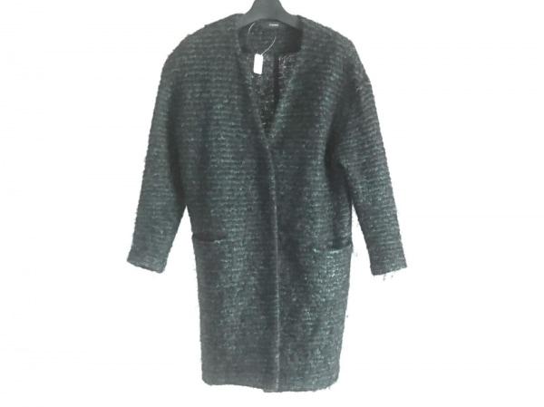 FLORENT(フローレント) コート レディース 黒×グリーン ニット/冬物