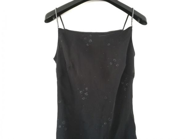 aimer(エメ) ドレス サイズ7AR S レディース美品  黒 ラインストーン/ラメ
