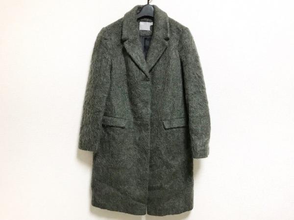 ASOS(エイソス) コート サイズ38 L レディース美品  ダークグリーン モヘア/冬物