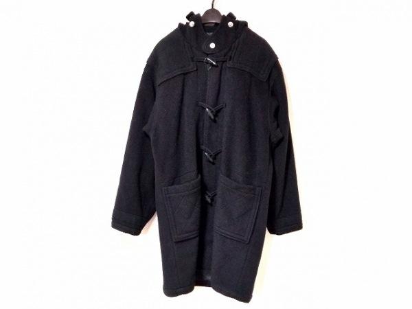 SINACOVA(シナコバ) ダッフルコート サイズL レディース 黒 冬物/ネーム刺繍