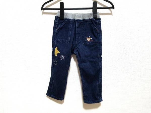 miki HOUSE(ミキハウス) パンツ サイズ90 メンズ ネイビー×グレー 90cm/デニム