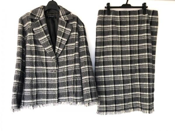 マリナスポーツ スカートスーツ サイズ23 レディース美品  黒×アイボリー×グレー