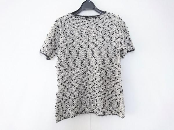 ESCADA(エスカーダ) 半袖セーター サイズ38 L レディース ライトグレー×黒×白