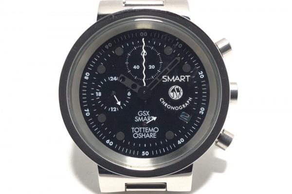 ジーエスエックス 腕時計 GSX208SMG-1 ボーイズ SMART no.50/クロノグラフ 黒