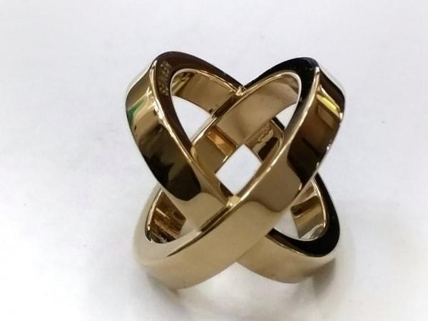 HERMES(エルメス) スカーフリング美品  コスモス 金属素材 ゴールド