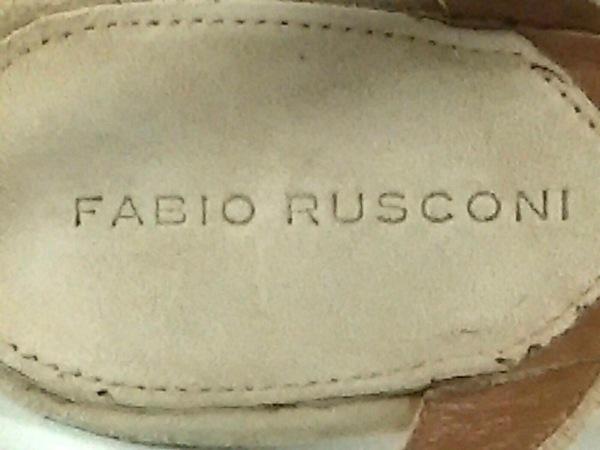 FABIO RUSCONI(ファビオルスコーニ) サンダル 36 レディース ベージュ スエード