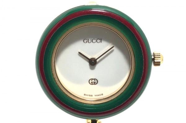 GUCCI(グッチ) 腕時計 1100-L レディース 白