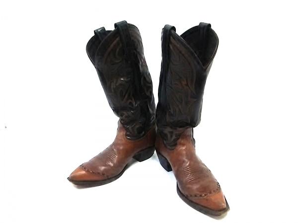 Tony Lama(トニーラマ) ブーツ L6 1/2 M メンズ ダークブラウン×ブラウン レザー