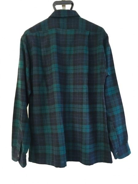 ペンドルトン 長袖シャツ サイズL メンズ グリーン×黒×ネイビー チェック柄