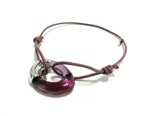 Baccarat(バカラ) ブレスレット美品  クリスタルガラス×シルバー ピンク