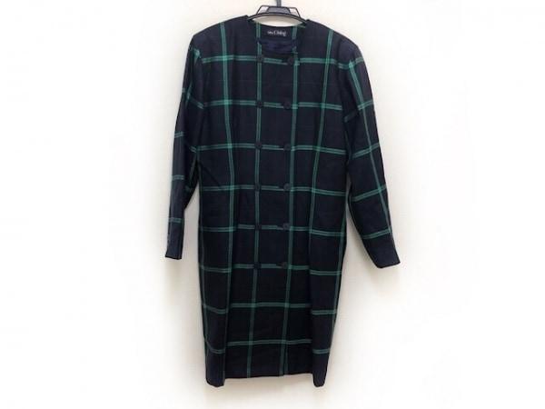 MISS CHLOE(クロエ) コート サイズ40 M レディース美品  ネイビー×グリーン 春・秋物