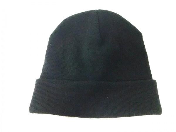 CA4LA(カシラ) ニット帽美品  黒 アクリル×ナイロン×ウール