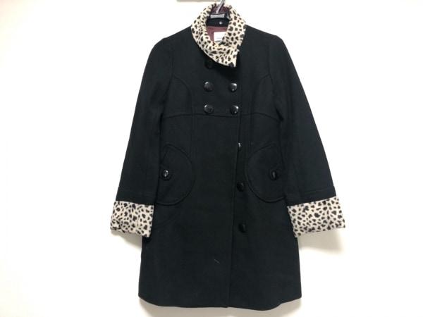 ミニマム コート サイズ2 M レディース美品  黒×ベージュ×ダークブラウン 冬物
