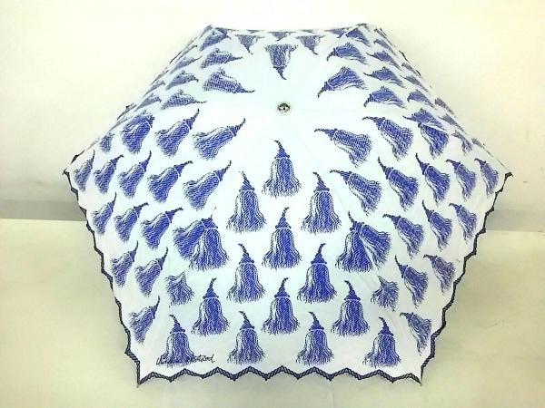 ヴィヴィアンウエストウッドアクセサリーズ 折りたたみ傘 ライトブルー×ブルー
