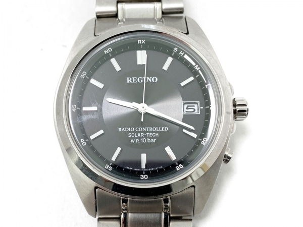 REGUNO(レグノ) 腕時計 SOLAR-TECH H415-S057515 メンズ 黒