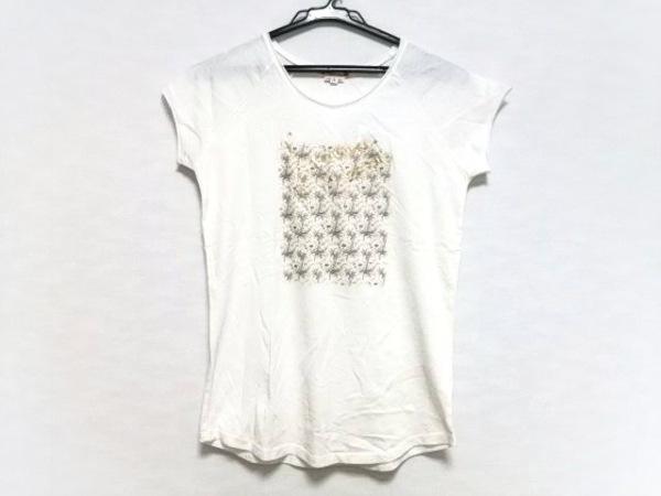Bonpoint(ボンポワン) 半袖Tシャツ レディース アイボリー×ゴールド×マルチ