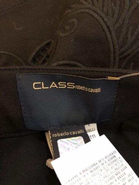 クラスロベルトカヴァリ ミニスカート サイズ42 L レディース美品  黒 刺繍