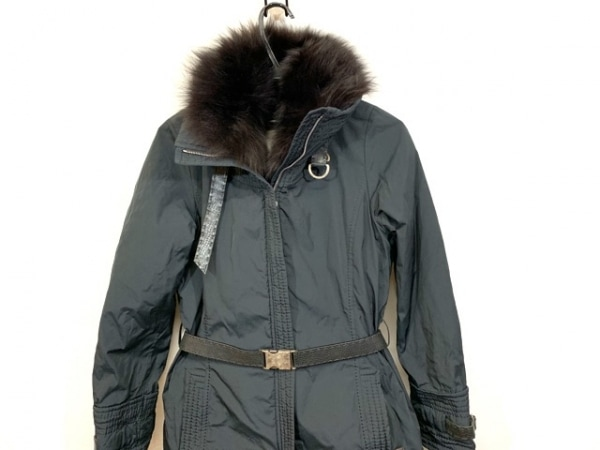 VIOLANTI(ヴィオランティ) コート サイズ42 L レディース 黒 ファー/冬物