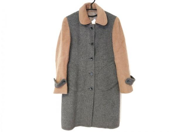 lacquer&c(ラクアアンドシー) コート サイズ3 L レディース グレー×ベージュ 冬物