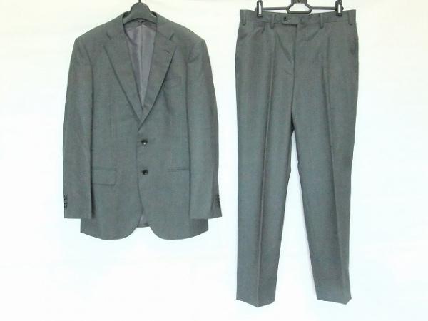 HILTON(ヒルトン) シングルスーツ サイズA5 メンズ グレー×ダークグレー ネーム刺繍