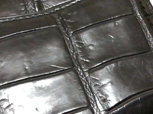 JRA(ジェイアールエイ) コインケース 黒 クロコダイル