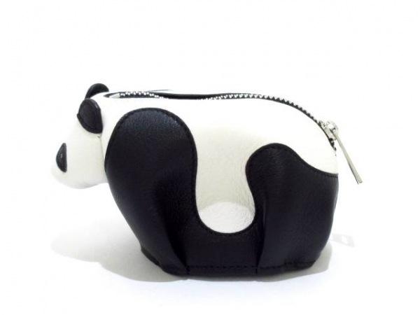 LOEWE(ロエベ) コインケース美品  - 199.30JH75 黒×白 パンダ ナッパレザー