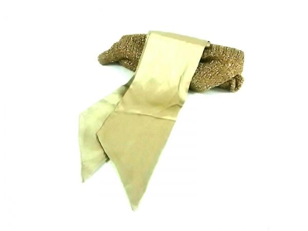 BALLSEY(ボールジー) マフラー ゴールド 化学繊維×ナイロン×ポリエステル×シルク