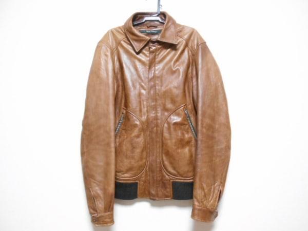 BARK TANNAGE(バークタンネイジ) ライダースジャケット サイズ46 XL メンズ ブラウン
