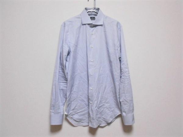 BARBA(バルバ) 長袖シャツ サイズ41/16 メンズ ライトグレー×白 ストライプ