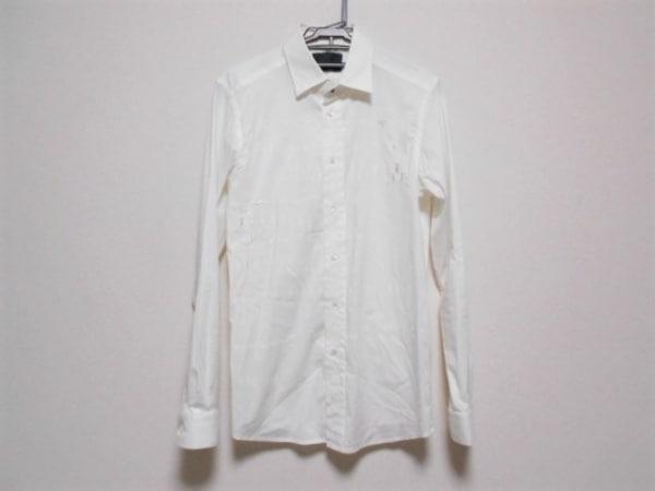 ディーゼルブラックゴールド 長袖シャツ サイズ46 XL メンズ 白 昆虫