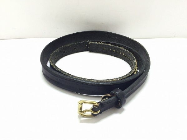 SCYE(サイ) ベルト 黒×ゴールド スタッズ レザー×金属素材