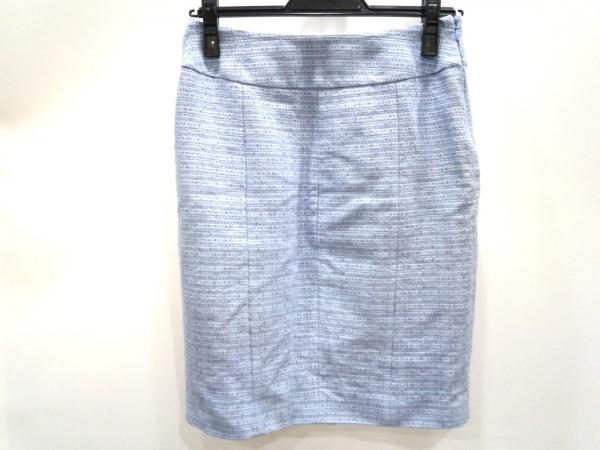 サルバトーレフェラガモ スカート サイズ38 S レディース美品  ライトブルー×ブルー