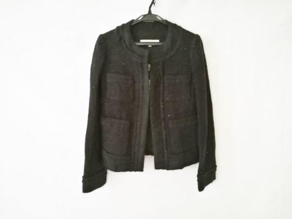 VOUS ETES(ヴゼット) ジャケット サイズ38 M レディース新品同様  黒 スパンコール