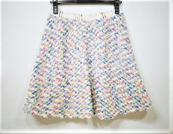 Coohem(コーヘン) スカート レディース美品  白×ピンク×マルチ ラメ