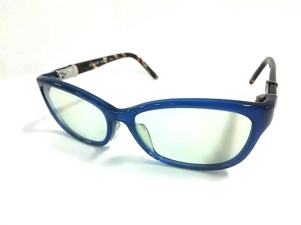ロバートマーク メガネ 278 174 クリア×ブルー×マルチ プラスチック×金属素材