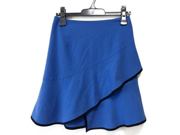 アカネ ウツノミヤ ミニスカート サイズ38 M レディース ブルー×ネイビー
