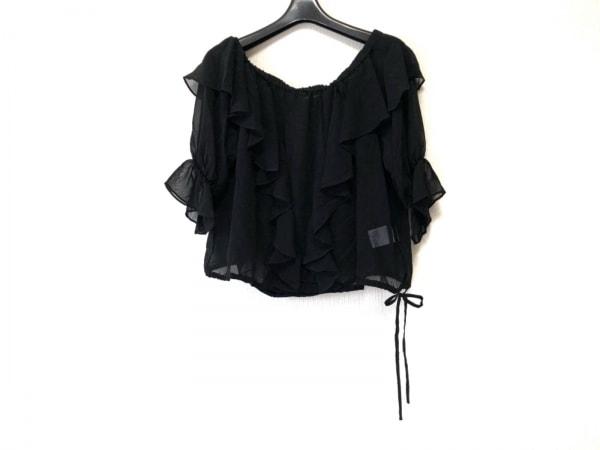 AULA(アウラ) 半袖カットソー サイズ0 XS レディース美品  黒 シースルー