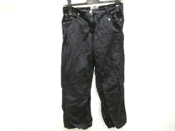 フセインチャラヤン パンツ サイズ40 M レディース 黒 クロップド丈