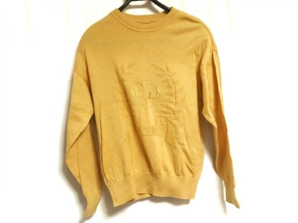 クリスチャンディオールスポーツ 長袖セーター サイズM レディース イエロー 刺繍